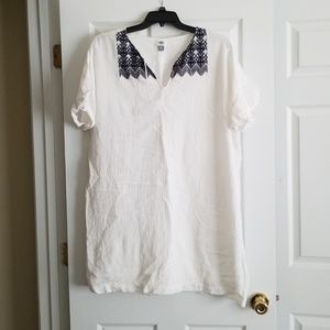 Old Navy White tunic/ beach cover up